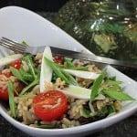 Salata cu orez si rosii cherry