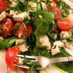 Salata de leurda si untisor cu rosii si branza
