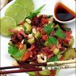 Salata calda de castraveti cu bacon