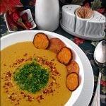 Supa crema de cartofi dulci cu lapte de cocos