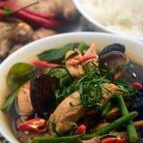 Curry thailandez de jungla cu pui (Gaeng pa gai)