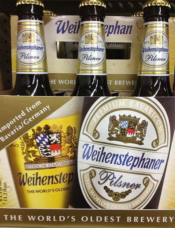Weihenstephaner Pilsner - sursa foto: http://lukasliquorstl.com