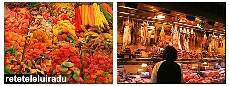 La Boqueria - Barcelona: dulciuri si mezeluri