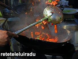 Stir-fry in wok
