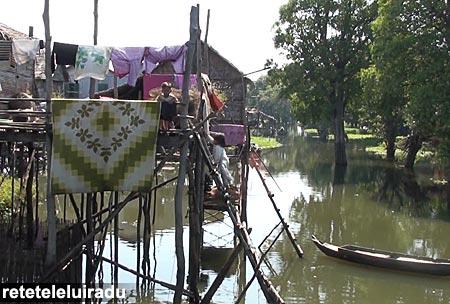 Sat pescaresc, lacul Ton Le Sap - Cambodgia