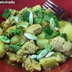 Curry jamaican de pui cu cartofi