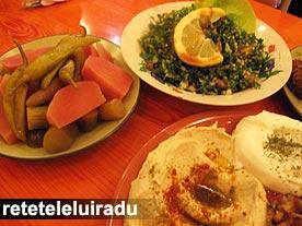 Gustari, muraturi, salata tabouleh - restaurant Naser, Bucuresti