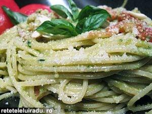 spaghetePestoSicilian1 - Spaghete cu pesto sicilian 11 - Retetele lui Radu