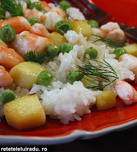 salata de creveti cu orez1 - Salata de creveti cu orez si mar 1 - Retetele lui Radu