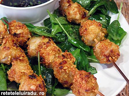frigaruiPuiAluneCurry - Frigarui de pui cu alune si curry 1 - Retetele lui Radu