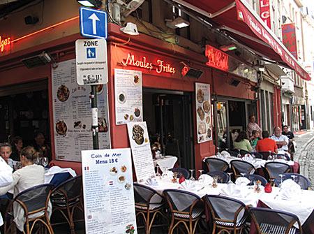 Restaurant pe rue des Bouchers, Bruxelles