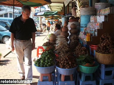 Piata din Phnom Penh, Cambodgia