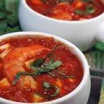 Garides saganaki – Creveti gratinati cu sos de rosii