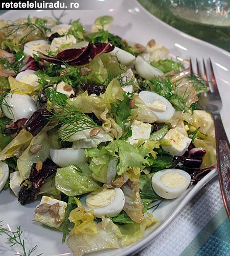 salataOuaPrepelita - Salata cu oua de prepelita 1 - Retetele lui Radu