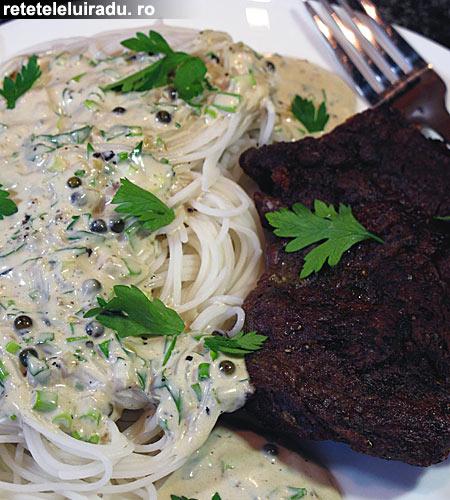 vitaPasteSosBranza - Vita cu spaghete si sos de branza 1 - Retetele lui Radu