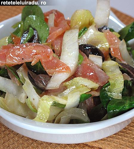 Salata de andive cu somon afumat - Salata de andive cu somon afumat 1 - Retetele lui Radu