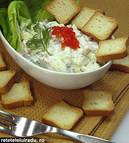 salata de mere cu somon afumat1 - Salata de mere cu somon afumat 1 - Retetele lui Radu
