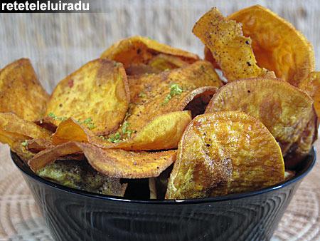 chipsuriCartofiDulci - Chipsuri de cartofi dulci 1 - Retetele lui Radu