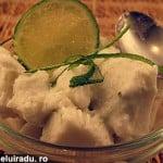 Inghetata de nuca de cocos cu limeta