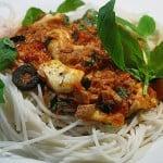 Spaghete cu ton si mozarella