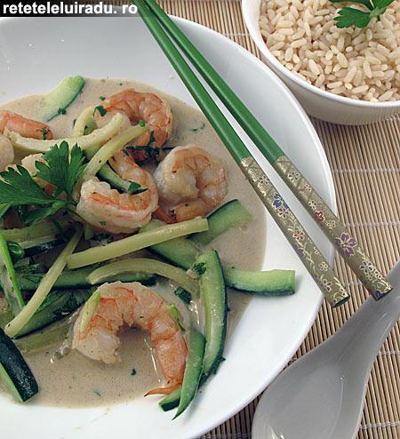 curry verde creveti1 - Curry verde de creveti 1 - Retetele lui Radu