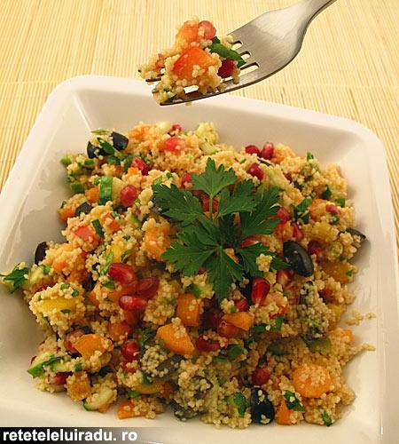 Salata de cuscus cu seminte de rodie