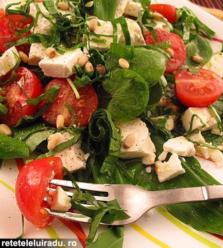 Salata de leurda si untisor cu rosii si branza - Salata de leurda si untisor cu rosii si branza 1 - Retetele lui Radu