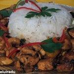 Curry de pui cu usturoi