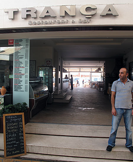 Bodrum, restaurantul Trança