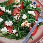 Salata de rucola cu branza ricotta
