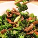 Vita cu sos de stridii si broccoli