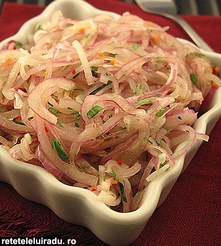 salata de ceapa1 - Salata de ceapa 1 - Retetele lui Radu