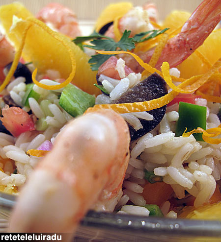Salata de orez cu creveti
