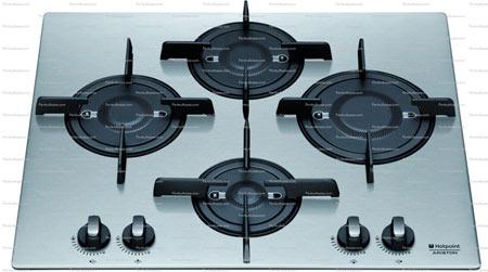 Plita incorporabila Hotpoint Ariston Luce PK 644 D GH X, 60 cm latime, Direct Flame, gratare fonta