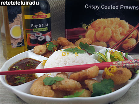 creveti crocanti cu orez si sos picant - Creveti crocanti cu orez si sos picant 1 - Retetele lui Radu