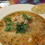 Supa de pui cu orez si chimen