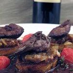 Ficatei de pui cu cartofi si sos de vin