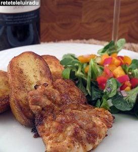 pulpe marinate cu cartofi fondanti1 - Pulpe de pui marinate cu cartofi fondanti 56 - Retetele lui Radu