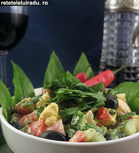 Salata de oua cu leurda1 - Salata de oua cu leurda 1 - Retetele lui Radu
