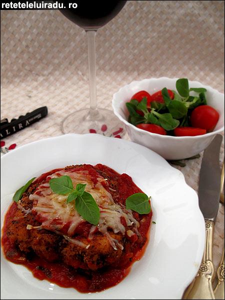 Pollo alla Parmigiana - Pollo alla Parmigiana 1 - Retetele lui Radu