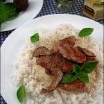 Muschiulet de porc cu sos de smantana si trufe
