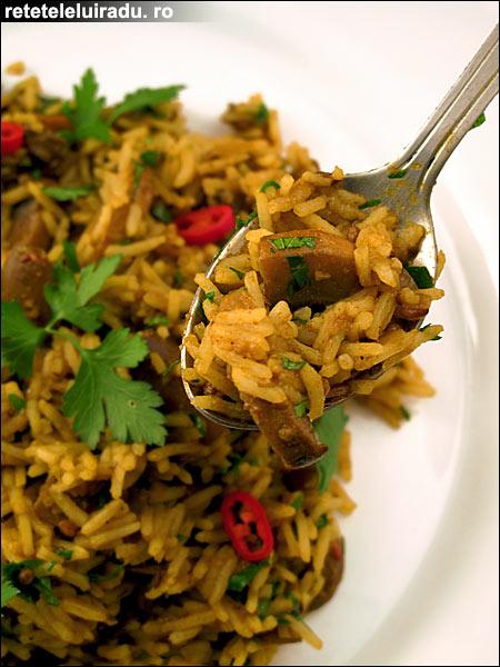 Curry de ciuperci cu orez