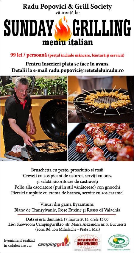 """SundayGrilling2013martie171 - """"Sunday Grilling"""", 17 martie 2013 1 - Retetele lui Radu"""