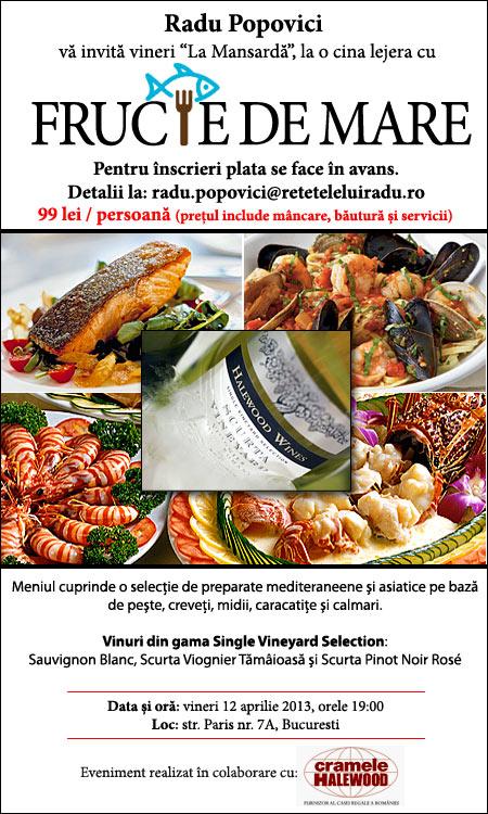 """FructeDeMare1 - Vineri """"la Mansardă"""": Fructe de mare - 12 aprilie 2013 1 - Retetele lui Radu"""