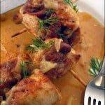 Rulouri de pui cu prosciutto si Parmesan