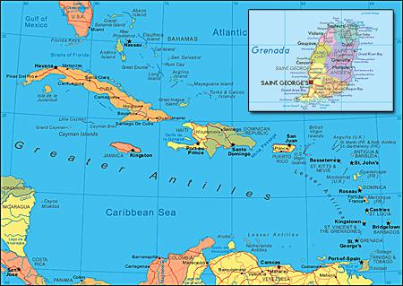 """grenadaHarta - Grenada - o bucătărie """"explozivă"""" (1) 1 - Retetele lui Radu"""