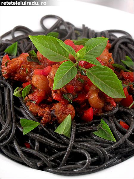 Spaghete negre cu pui de sepii - Spaghete negre cu pui de sepii 1 - Retetele lui Radu