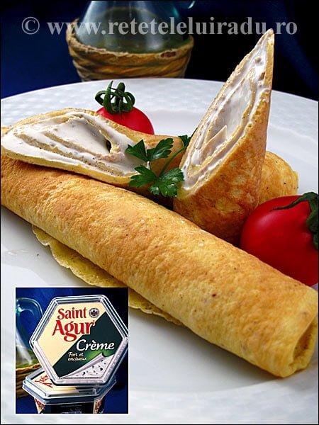 Rulouri de omleta cu crema St. Agur - Rulouri de omleta cu crema St. Agur 1 - Retetele lui Radu