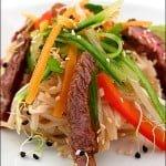 Salata de vita cu taitei de orez si susan
