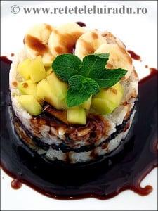 Orez lipicios cu fructe si sirop caramel1 - Orez lipicios cu fructe si sirop caramel 31 - Retetele lui Radu